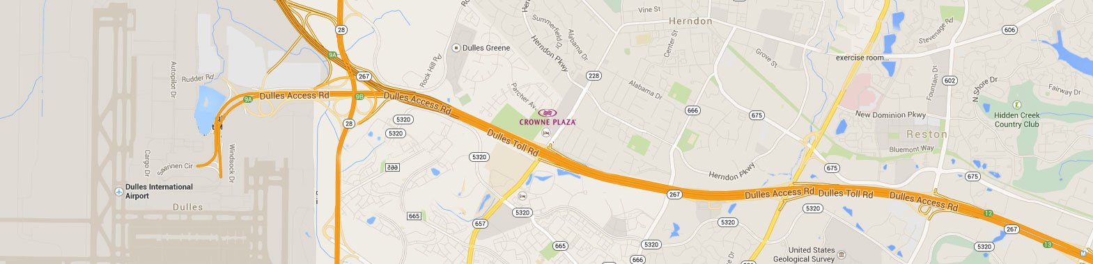 Crowne Plaza Dulles Airport Hotel Location